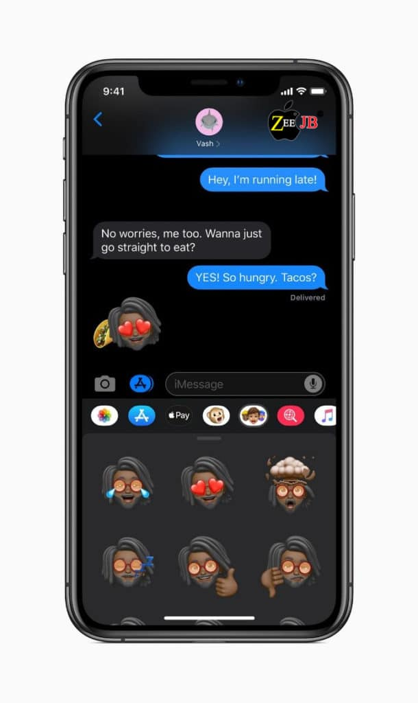 Apple showed how it works across the operating system and throughout its first-party apps – Messages, Photos, Mail – they all take in a dark theme to give a unified black look to the iPhone.