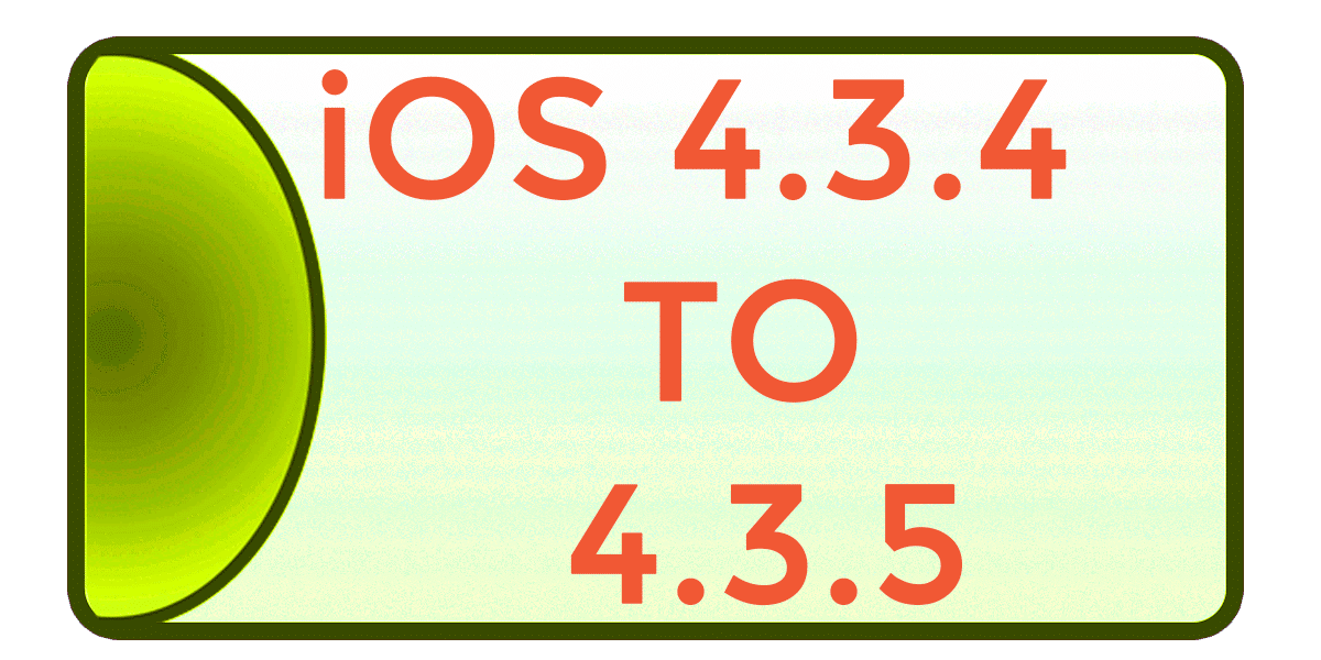 iOS 4.3.4 → 4.3.5 Jailbreak using redsn0w