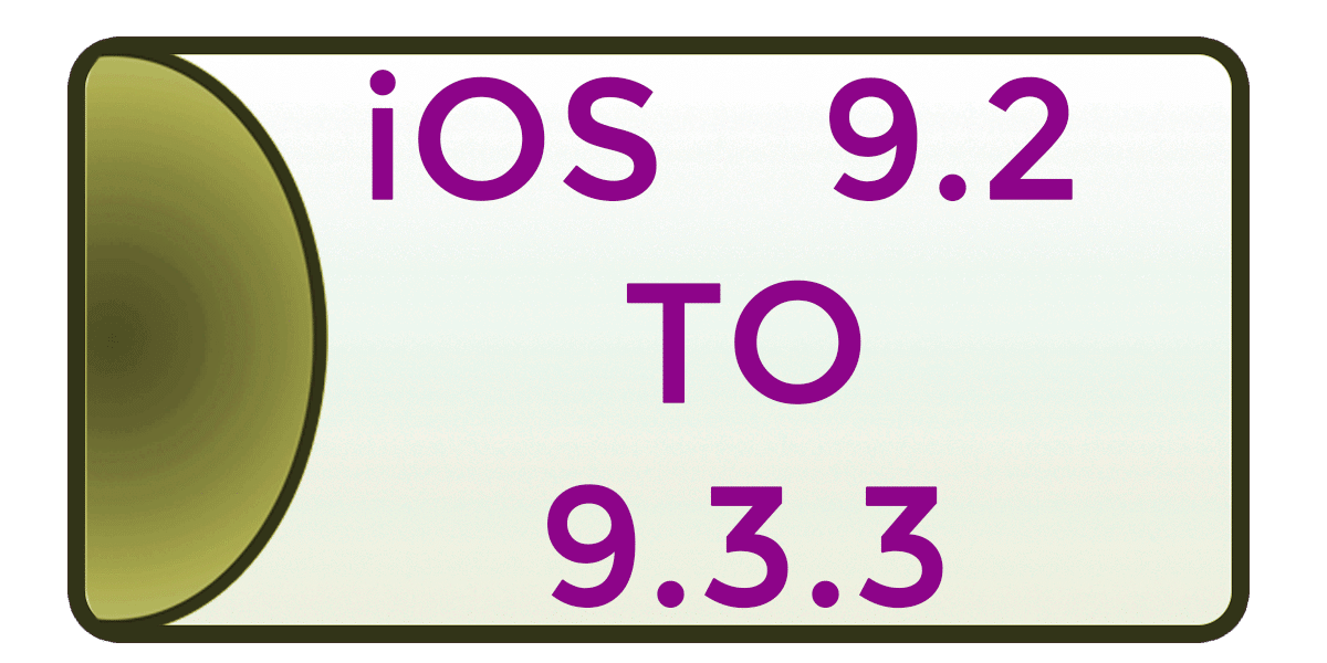 iOS 9.2 to 9.3.3 Jailbreak using Pangu