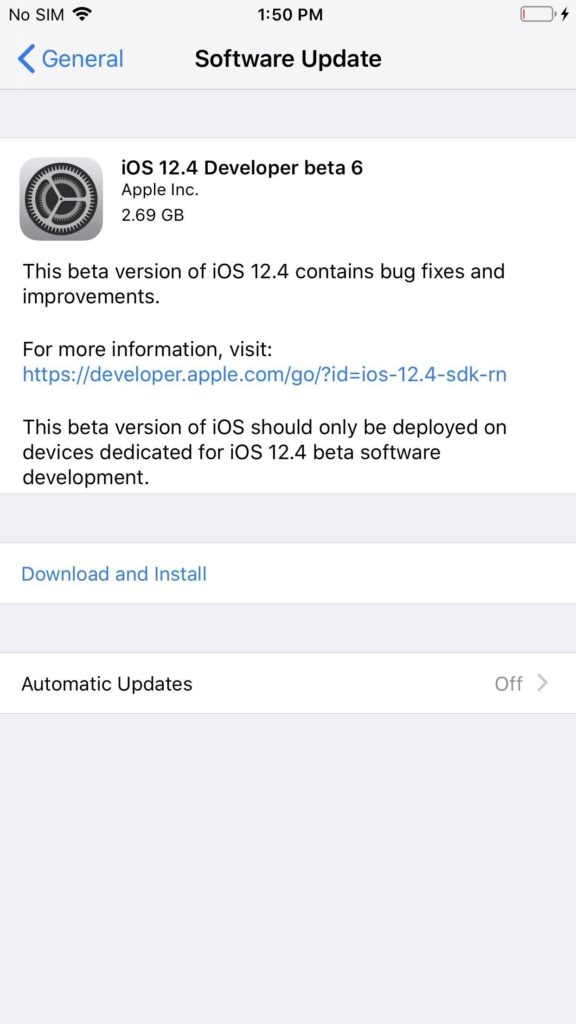 You can now download iOS 12.4 beta 6, macOS 10.14.6 beta 4 and watchOS 5.3 beta 5 if you are a registered developer.