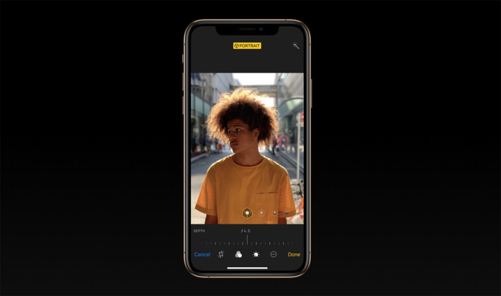 """Apple has introduced a new photo editing tool, """"Portrait lighting"""" with the camera app. In this tool, you can change the intensity and location of the light."""