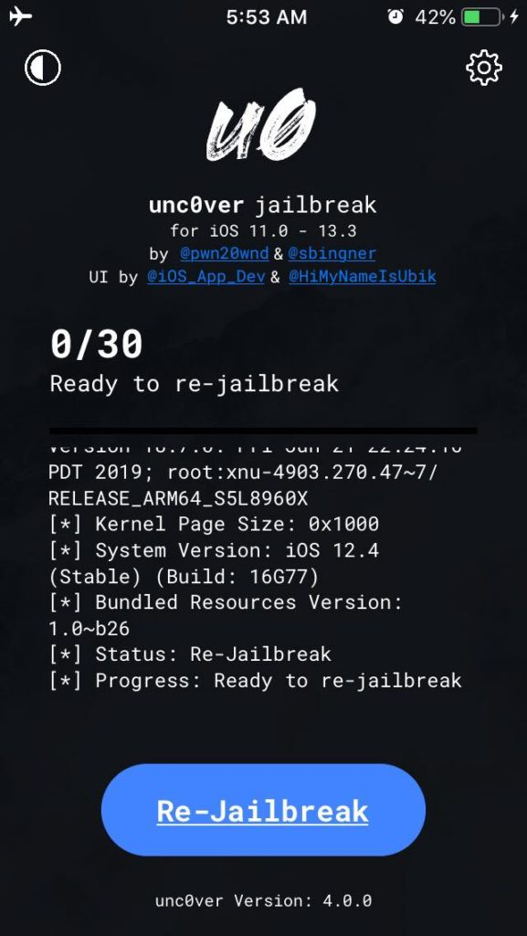 The New unc0ver jailbreak for iOS 13.3 released