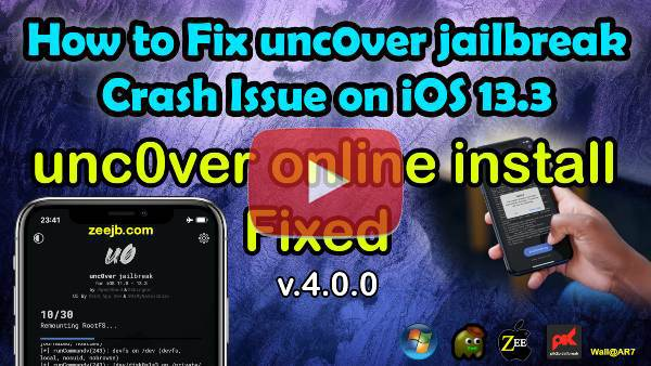 If you have unc0ver jailbreak installation crashing error, please view this tutorial and find out the best solution.