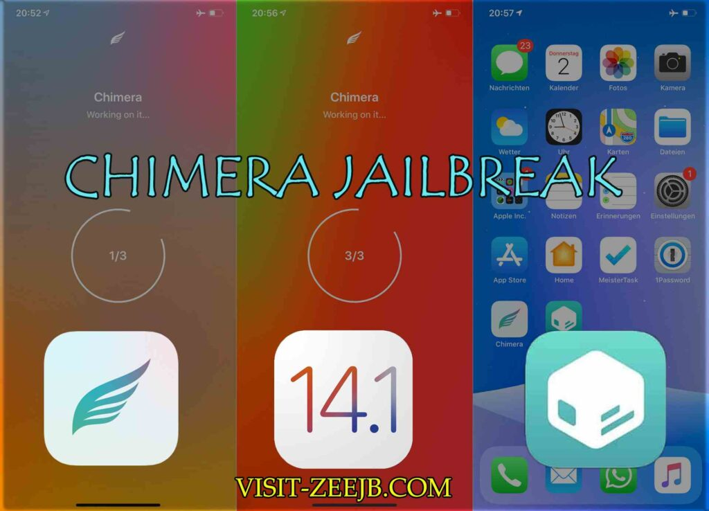Chimera jailbreak is not compatible with iOS 14.1 yet.