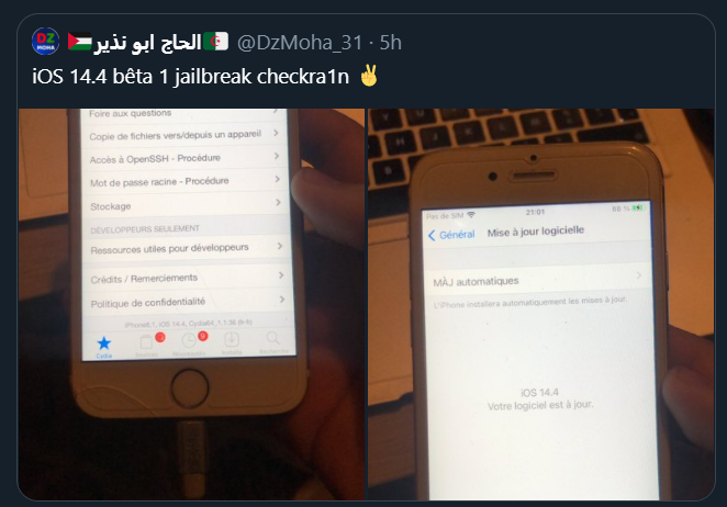 iOS 14.4 Jailbreak Successful